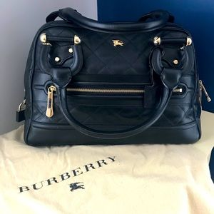 "Burberry ""Westbury"" Black Leather Satchel"